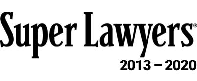 SuperLawyers 2013 - 2020